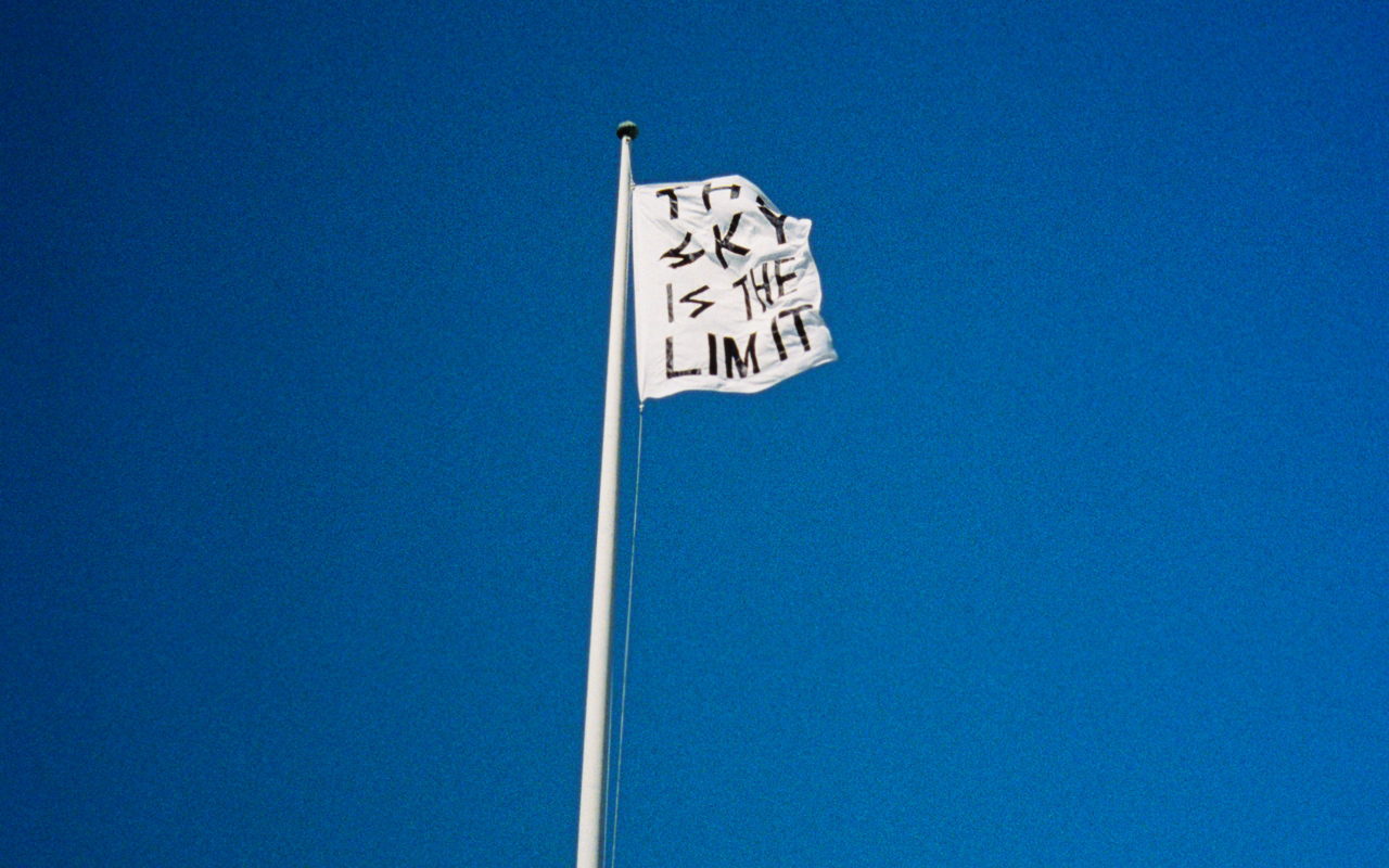 The sky is the Limit / 1800mm X 800mm / Polyster flag / 2010.