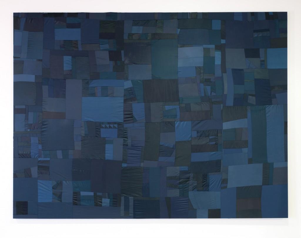 Men down / 300 cm X 400 cm 2015 / Textile Collage